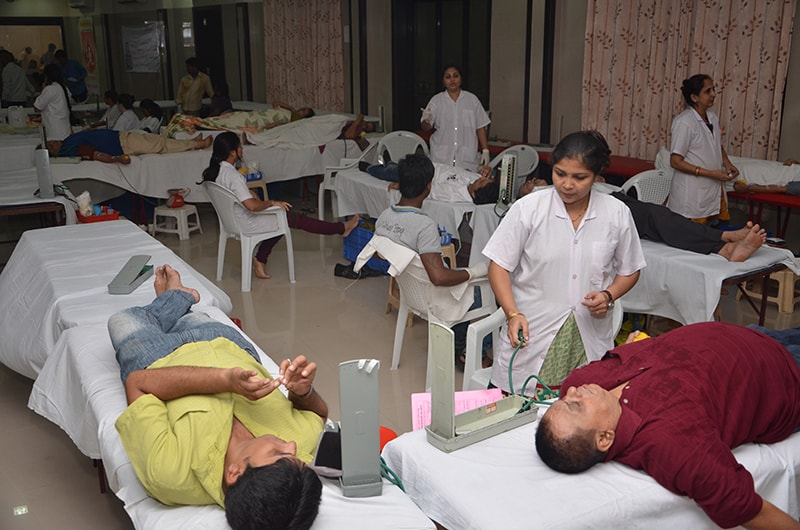 BLOOD DONATION CAMP AT BORIVALI
