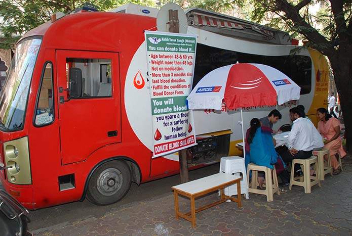 BLOOD DONATION VAN